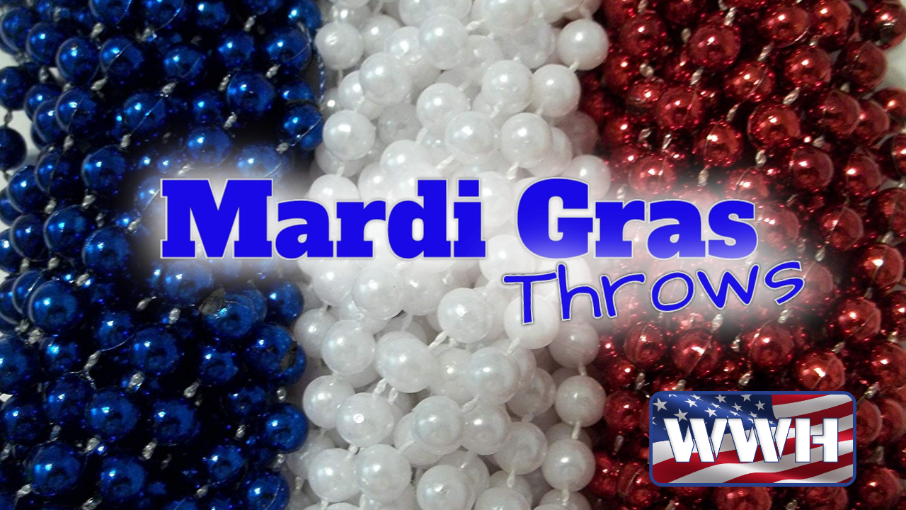 Madri Gras Throws Needed